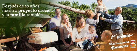 LaMejorNaranja, satisfecha por el apoyo de sus clientes tras recibir el premio en el Ecommerce Awards