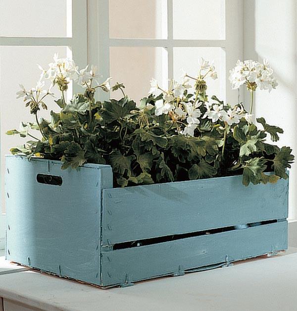 caja reciclada jardinera lamejornaranja
