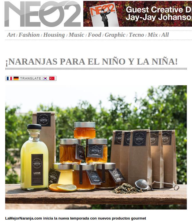 Reportaje a LaMejorNaranja en la revista Neo2