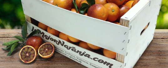 Naranjas sanguinas ya en nuestras cajas a medida
