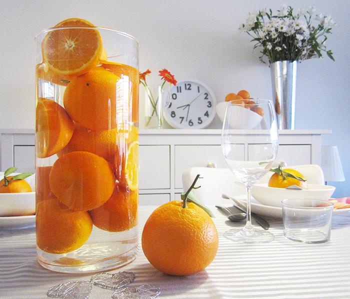 Naranjas para decorar la mesa de semana Santa