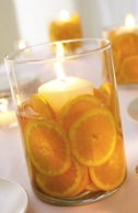 velero de naranjas para decorar la mesa