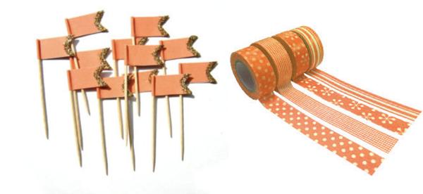 banderitas washi tape La Mejor Naranja